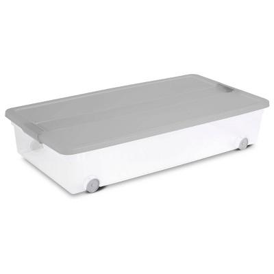 60qt Latching Utility Storage Tub Gray - Room Essentials™