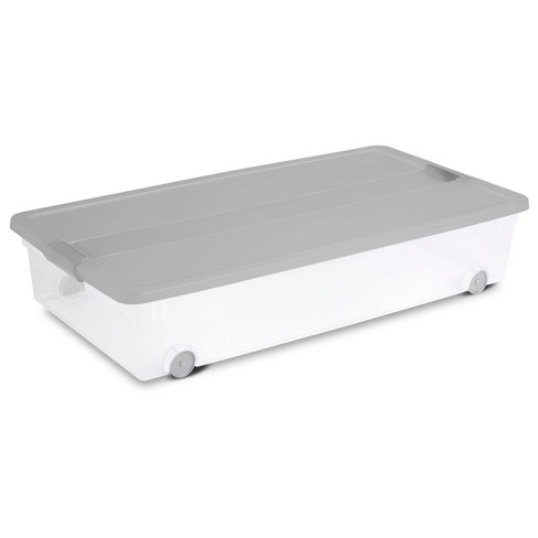 60qt Latching Utility Storage Tub Gray - Room Essentials™ - image 1 of 3