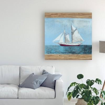 "14"" x 14"" Seagrass Nautical Ii by Naomi Mccavitt - Trademark Fine Art"