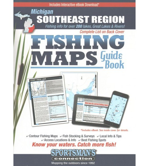 Michigan Southeast Region Fishing Maps Guide Book (Paperback) - image 1 of 1