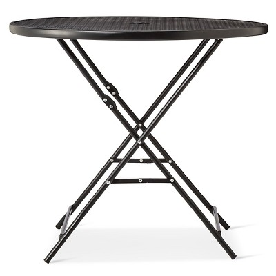 Metal Punch Folding Patio Bistro Table - Gray - Threshold - Room Essentials™