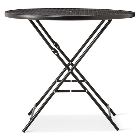 Metal Punch Folding Patio Bistro Table - Threshold - Room Essentials™ - image 1 of 3