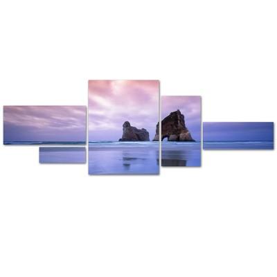 'Archway Islands-Wharariki Beach-NZ' by David Evans Ready to Hang Multi Panel Art Set
