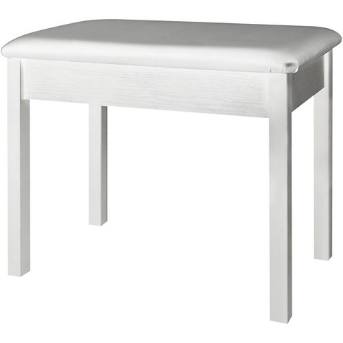 On-Stage Keyboard/Piano Bench (White) White - image 1 of 1
