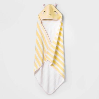Baby Girls' Bee Hooded Towel - Cloud Island™ Yellow One Size