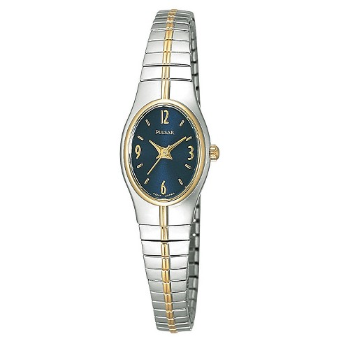 Women's Pulsar Expansion Watch - Two Tone with Blue Dial - PC3090 - image 1 of 1