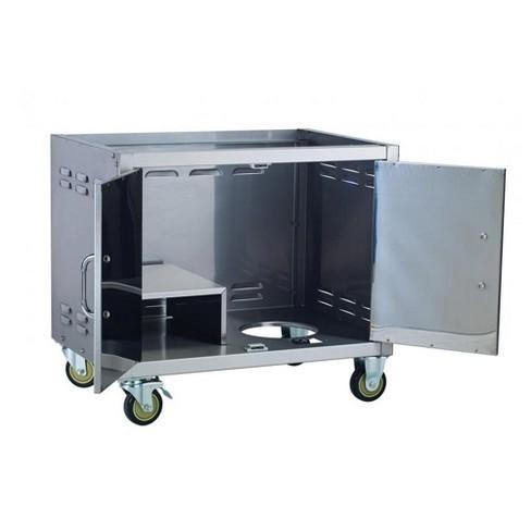 Bull Outdoor Stainless Steel 30 Inch Pedestal Cart Bottom For Premium Bbq Grills Target