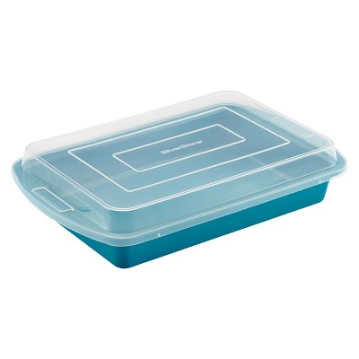 Silverstone Cake Pan with Lid - Blue