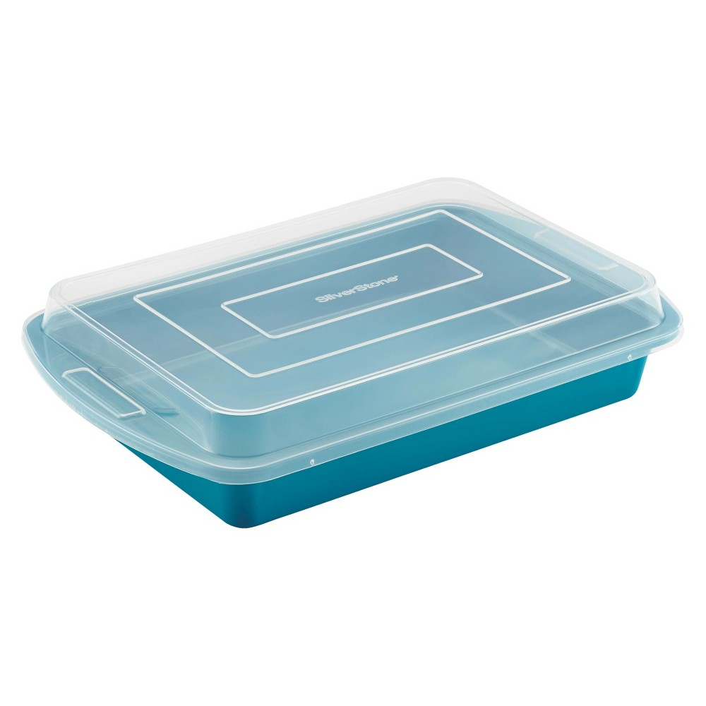 Image of Silverstone Cake Pan with Lid - Blue