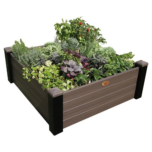 Maintenance Free Raised Square Garden Bed - Gronomics - image 1 of 3