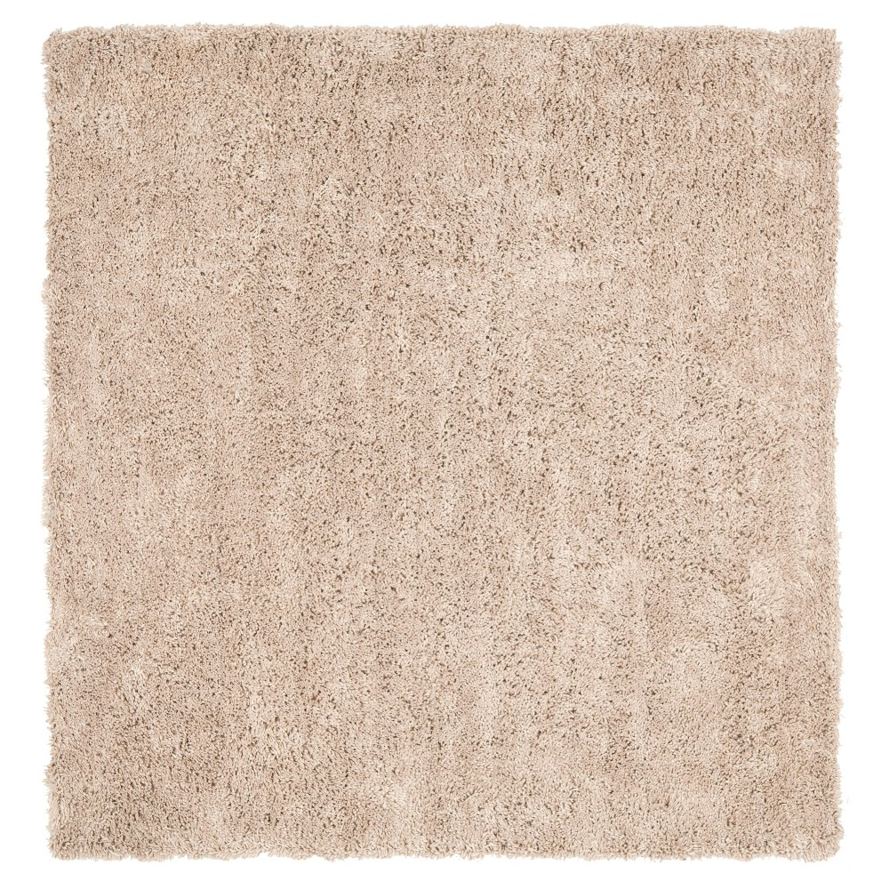 Taupe (Brown) Solid Tufted Square Area Rug - (7'x7') - Safavieh