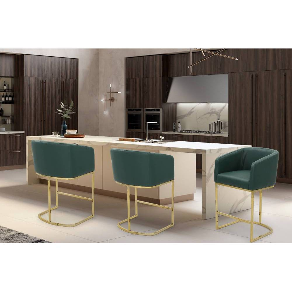 Easly Counter Stool Green - Chic Home Design was $299.99 now $209.99 (30.0% off)