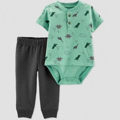 Baby Boys' 2pc Dino Set - Just One You® made by carter's Green 3M