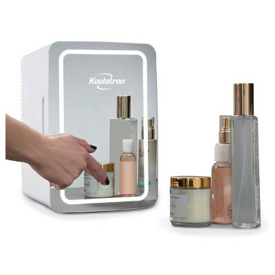 Koolatron Portable Cosmetics Fridge with LED Lighted Mirror