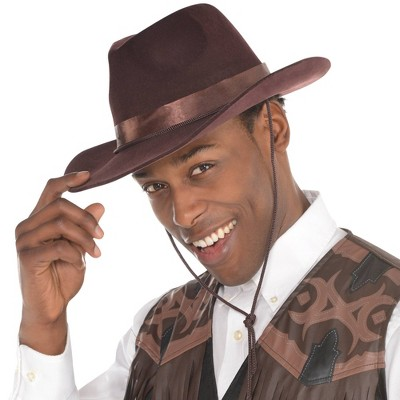 Adult Cowboy Hat Brown Accessory Halloween Costume