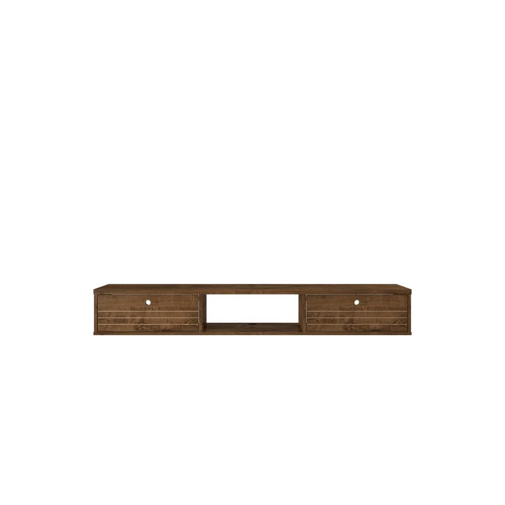 "62.99"" Liberty Floating Office Desk Rustic Brown - Manhattan Comfort"