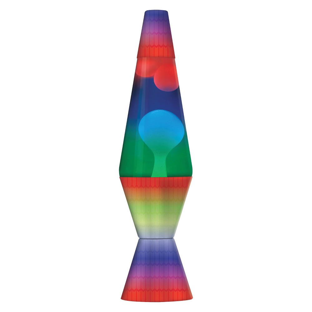 Image of 14.5 Lava Lamp - Lava Lite, Multicolor Rainbow