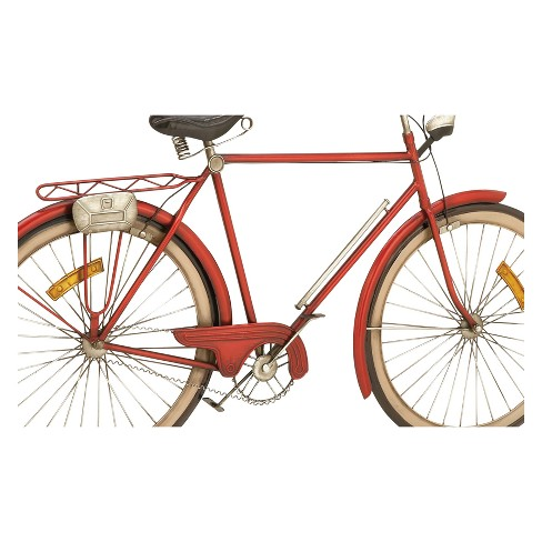 Metal Bicycle Decorative Wall Art 24 X 39 - Olivia & May : Target