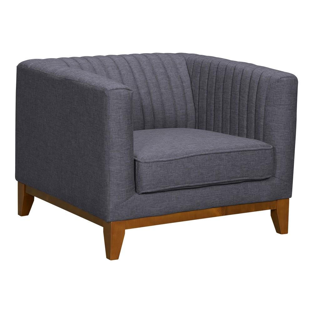 Gazala Mid-Century Sofa Chair Dark Gray - Modern Home