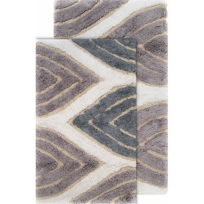 2pc Davenport Geometric Bath Rug Set - Chesapeake