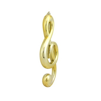 """Mark Roberts Products 12.25"""" Gold Royal Symphony Musical G Clef Christmas Ornament"""