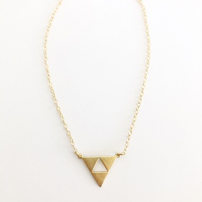 Sanctuary Project Triangle Necklace Gold