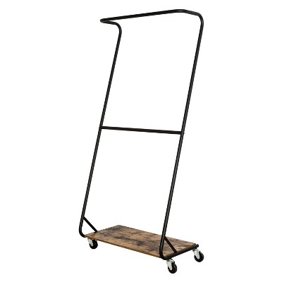 Honey-Can-Do Rustic Z-Frame Garment Rack Brown