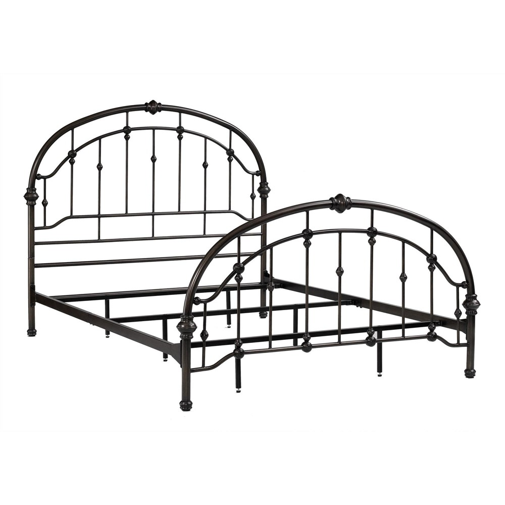 Antique Iron Metal Bed (Queen) - Pewter (Silver) - Dorel Living