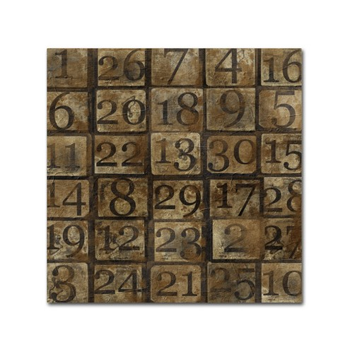 Grungy Number Blocks' by Marcee Duggar Ready to Hang Canvas Wall Art - image 1 of 3