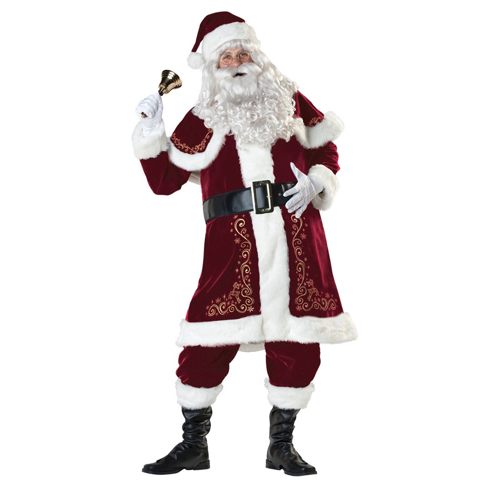 Image of Halloween Men's Jolly Ol' St Nick Costume Large, MultiColored