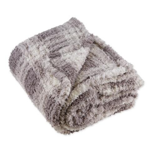"""50""""x60"""" Farmhouse Plaid Plush Throw Blanket - Design Imports - image 1 of 4"""