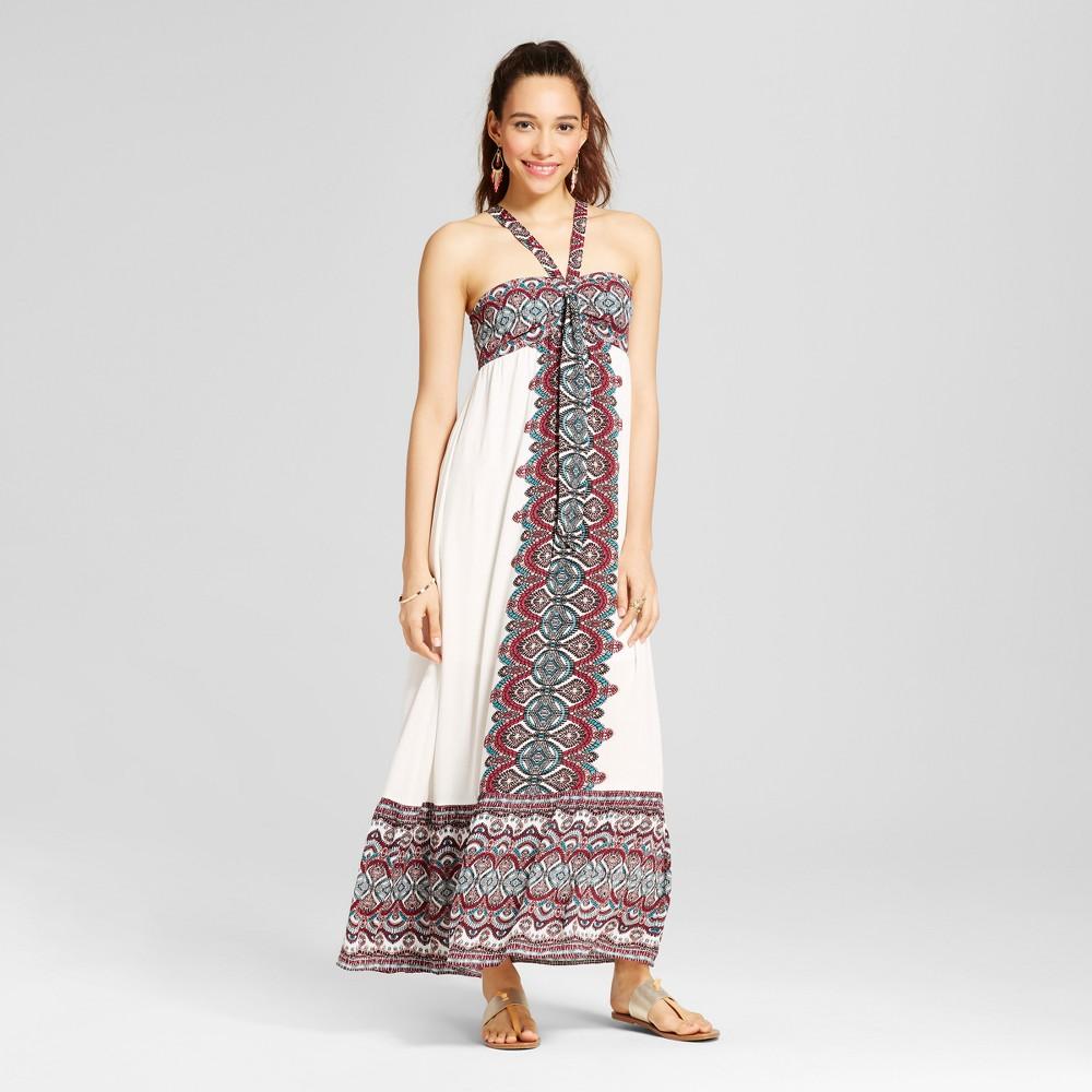 Women's Tie-front Maxi Dress - Xhilaration (Juniors') Ivory S, White