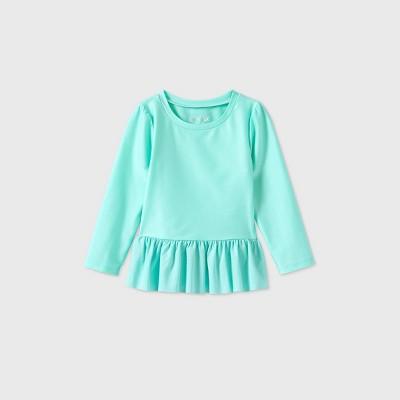 Toddler Girls' Ruffle Rash Guard - Cat & Jack™ Aqua