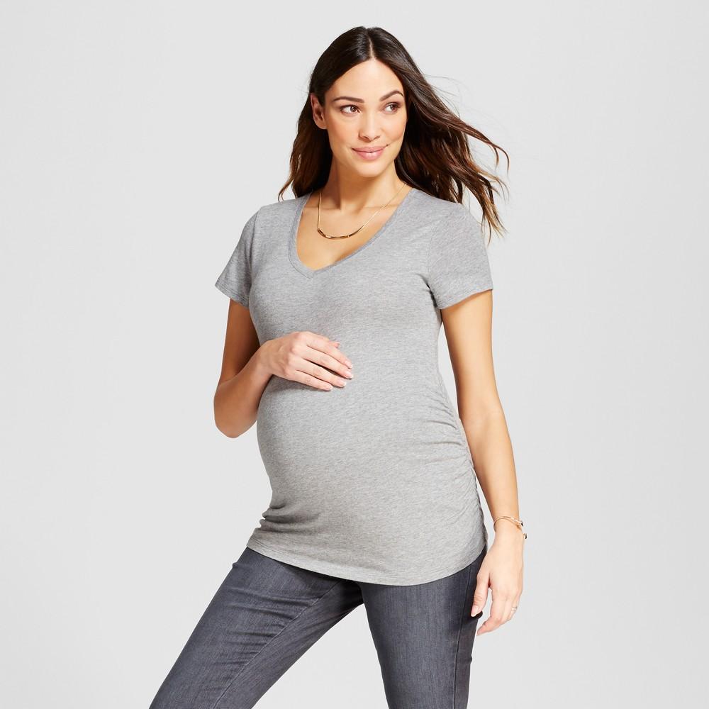 Maternity Shirred V Neck T Shirt Isabel Maternity 8482 By Ingrid Isabel 174 Medium Heather Gray M