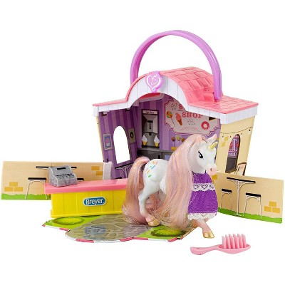 Breyer Animal Creations Breyer Li'l Beauties Fashion Horse Playset  | Sprinkles' Sweet Shop