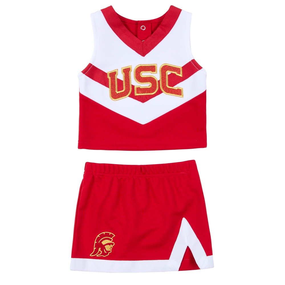 Usc Trojans Toddler Girls' Cheer Set - Red/White - 2T