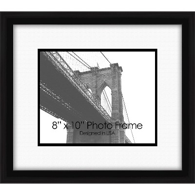 """8"""" x 10"""" Photo Frame Family II Single Picture Frame Black - PTM Images"""
