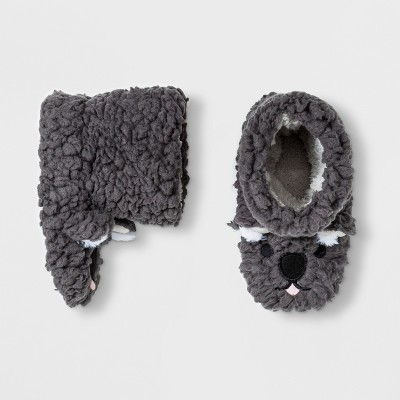 Baby Boys' Koala Bootie Slippers - Cat & Jack™ Gray 12-24M