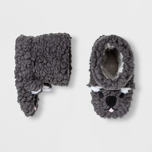 Toddler Boys' Koala Bootie Slippers - Cat & Jack™ Gray - image 1 of 1