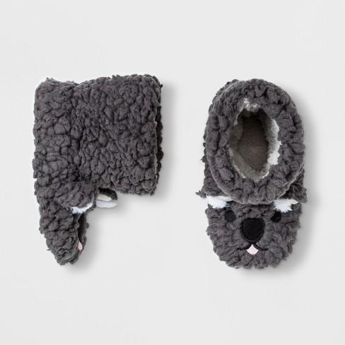 f38dff2fe9c Toddler Boys  Koala Bootie Slippers - Cat   Jack™ Gray   Target