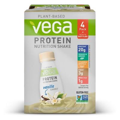 Vega Vegan Protein Shake - Vanilla - 4pk
