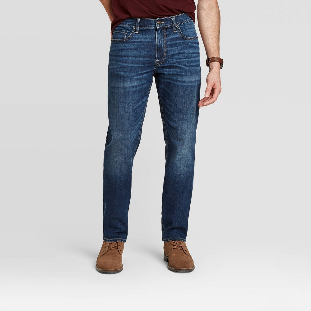 Men 39 S Athletic Fit Jeans Goodfellow 38 Co 8482 Dark Wash 38x30