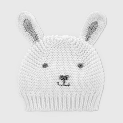 Baby Crochet Bunny Cap - Just One You® made by carter's White One Size