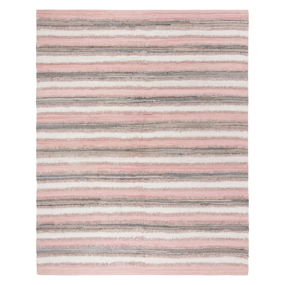 Pink Stripe Woven Area Rug 8'X10' - Safavieh