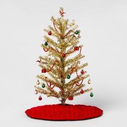 Mini Tree & Trim Kit Christmas Ornament Set Red Green Silver and Gold - Wondershop™