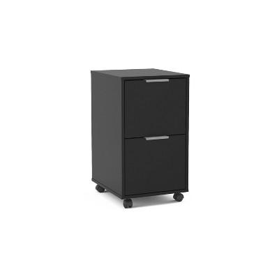 Fresno 2 Drawer File Cabinet Black - Chique