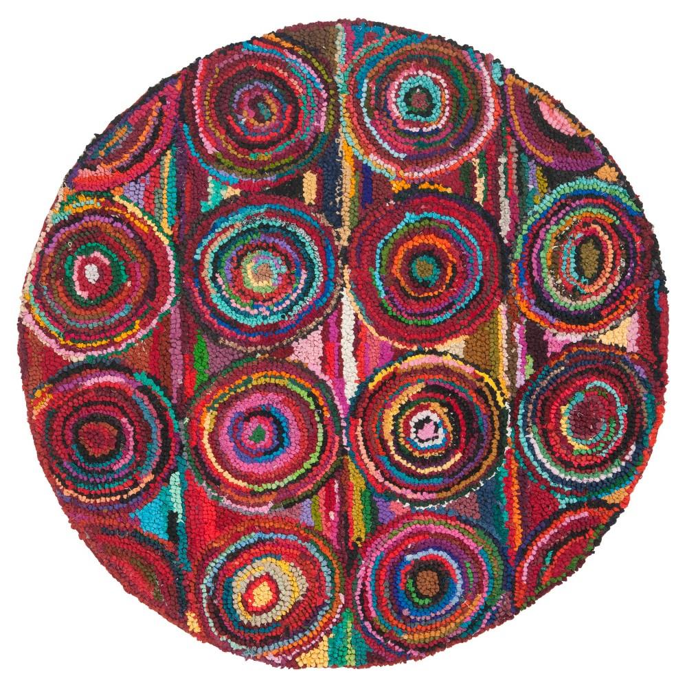 Tatum Area Rug - Pink(6'x6' Round) - Safavieh, Multicolored Pink