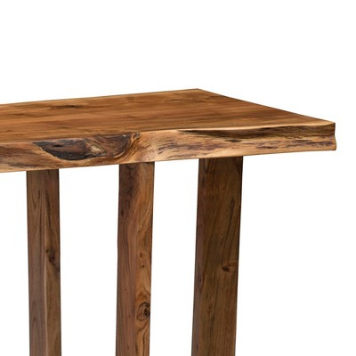 Alaterre Furniture Berkshire Natural Brown Live Edge Media Console Table  Solid Wood : Target