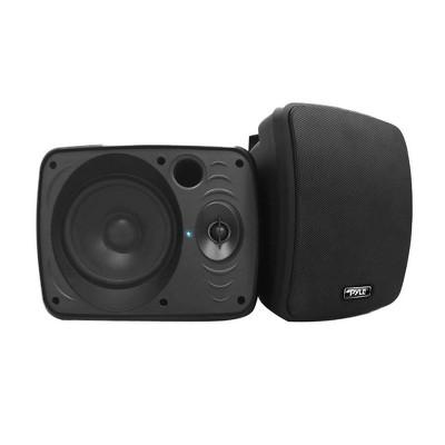 Pyle 5.25 Inch 600 Watt Indoor Outdoor Waterproof Bluetooth Black Speaker Pair