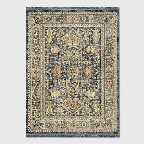 X Woven Area Rug Blue Threshold Target
